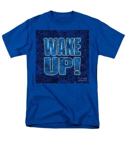 Wake Up Space Background Men's T-Shirt  (Regular Fit) by Ginny Gaura