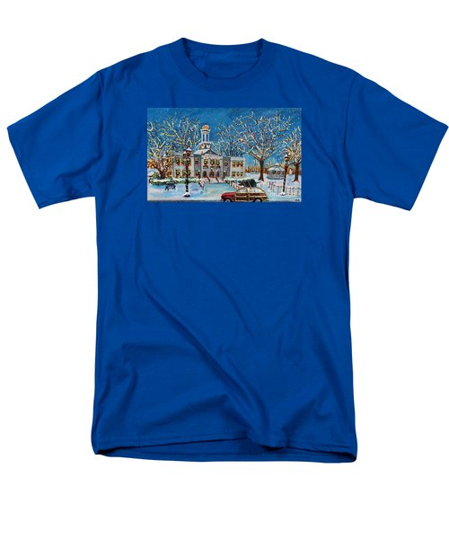 Waltham Common Shimmering Men's T-Shirt  (Regular Fit) by Rita Brown