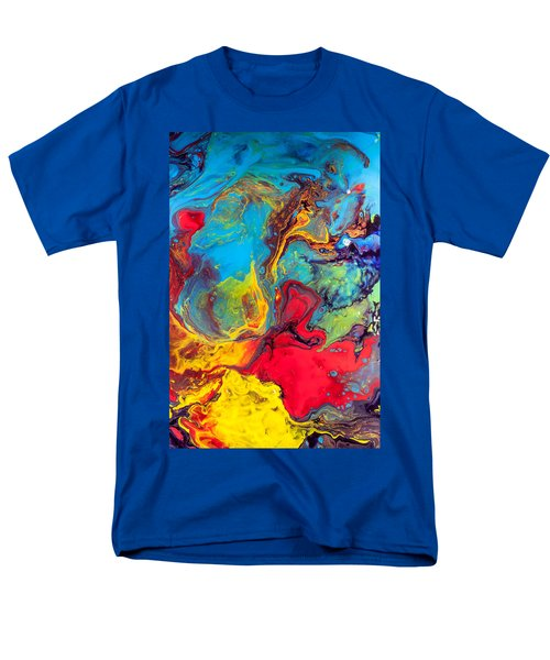 Wanderer - Abstract Colorful Mixed Media Painting Men's T-Shirt  (Regular Fit) by Modern Art Prints