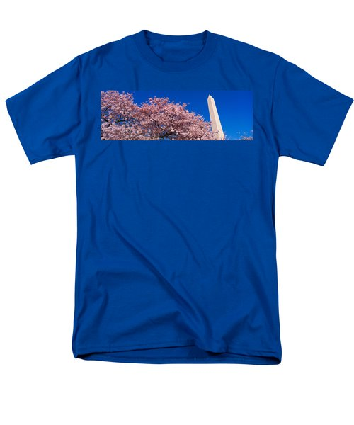 Washington Monument & Spring Cherry Men's T-Shirt  (Regular Fit) by Panoramic Images