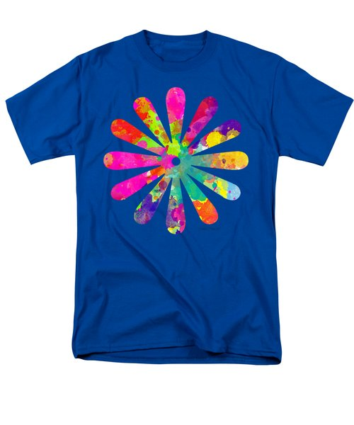 Watercolor Flower 2 - Tee Shirt Design Men's T-Shirt  (Regular Fit) by Debbie Portwood