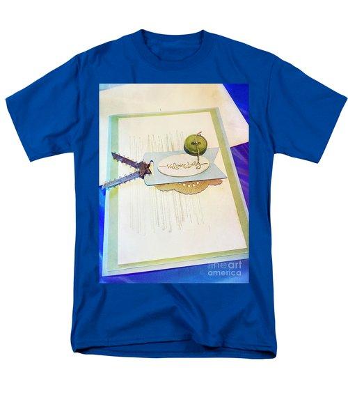 Welcome New Baby Handmade Stationary Men's T-Shirt  (Regular Fit) by Vizual Studio