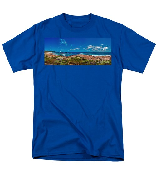 Men's T-Shirt  (Regular Fit) featuring the photograph Western Australia Beach Panorama by David Zanzinger