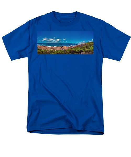 Men's T-Shirt  (Regular Fit) featuring the photograph Western Australia Beach Panorama Margaret River by David Zanzinger
