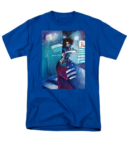 Men's T-Shirt  (Regular Fit) featuring the painting What Time Is It by Maya Manolova