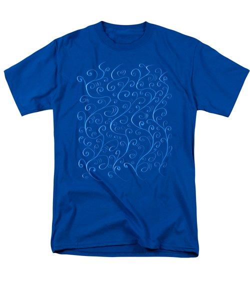 Whimsical Glowing Blue Swirls Men's T-Shirt  (Regular Fit) by Boriana Giormova