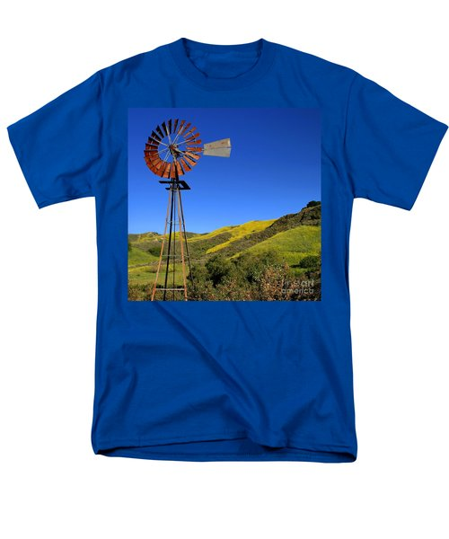 Windmill Men's T-Shirt  (Regular Fit) by Henrik Lehnerer