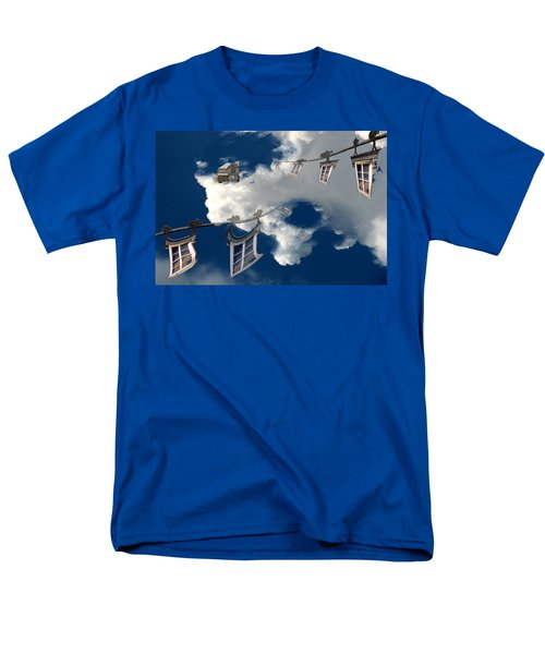 Men's T-Shirt  (Regular Fit) featuring the photograph Windows And The Sky by Christopher Woods