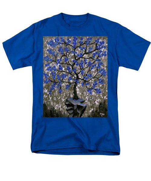 Men's T-Shirt  (Regular Fit) featuring the painting Winter Blues by Teresa Wing