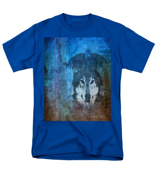 Wolf And Raven Men's T-Shirt  (Regular Fit) by Thomas M Pikolin