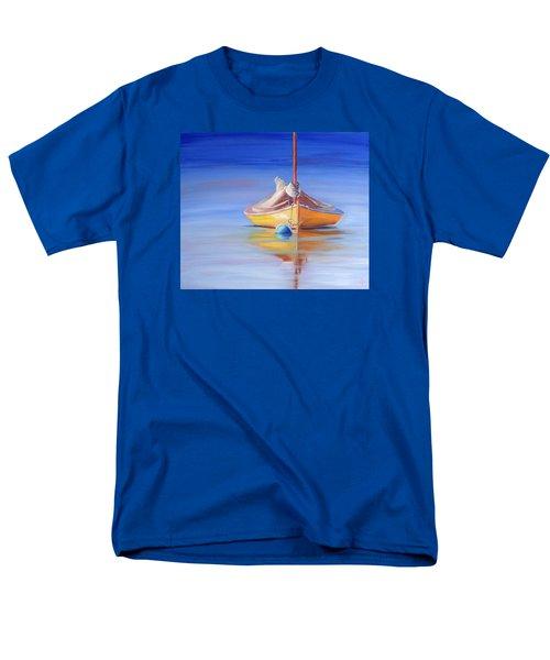 Yellow Hull Sailboat Iv Men's T-Shirt  (Regular Fit) by Trina Teele