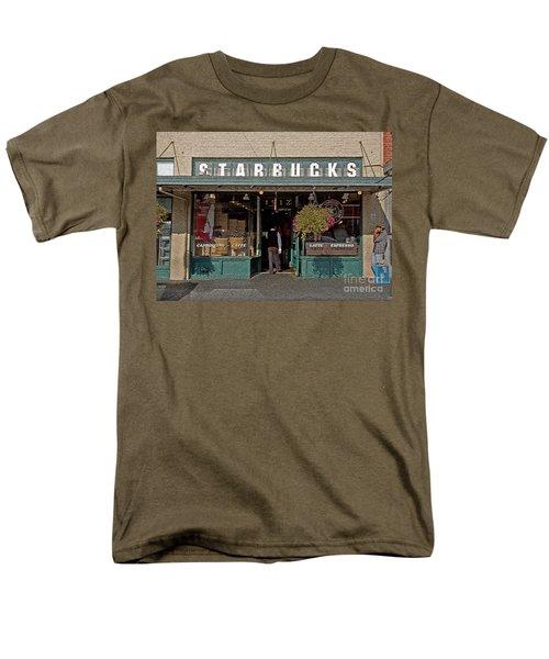 0370 First Starbucks Men's T-Shirt  (Regular Fit) by Steve Sturgill