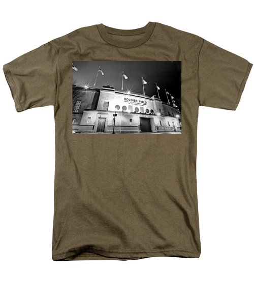 0879 Soldier Field Black And White Men's T-Shirt  (Regular Fit) by Steve Sturgill
