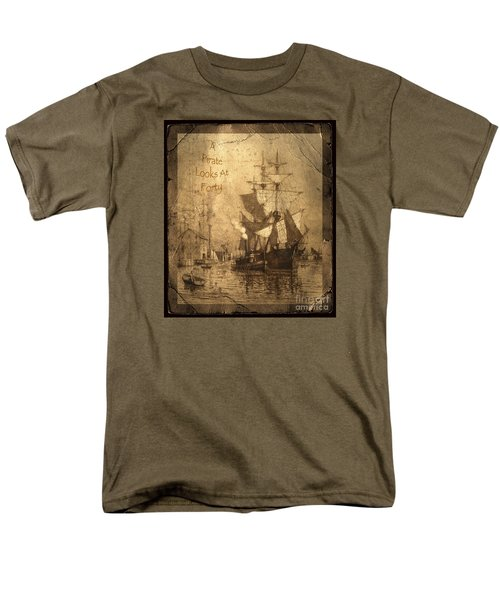 A Pirate Looks At Forty Men's T-Shirt  (Regular Fit) by John Stephens