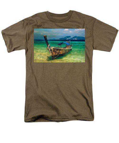 Asian Longboat Men's T-Shirt  (Regular Fit) by Adrian Evans