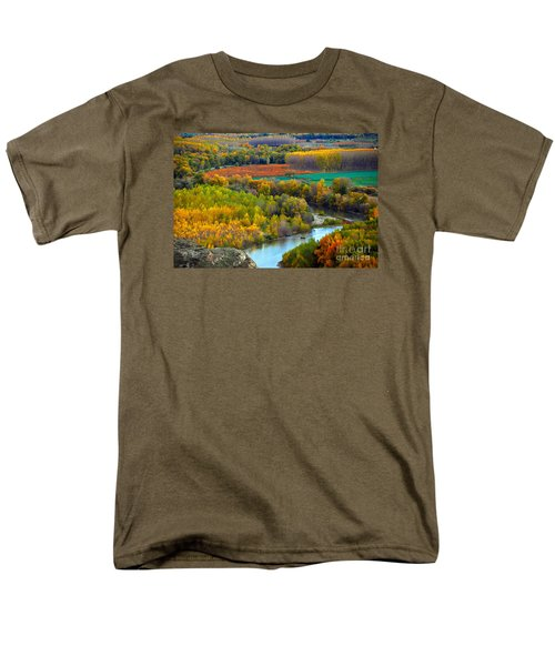 Autumn Colors On The Ebro River Men's T-Shirt  (Regular Fit) by RicardMN Photography