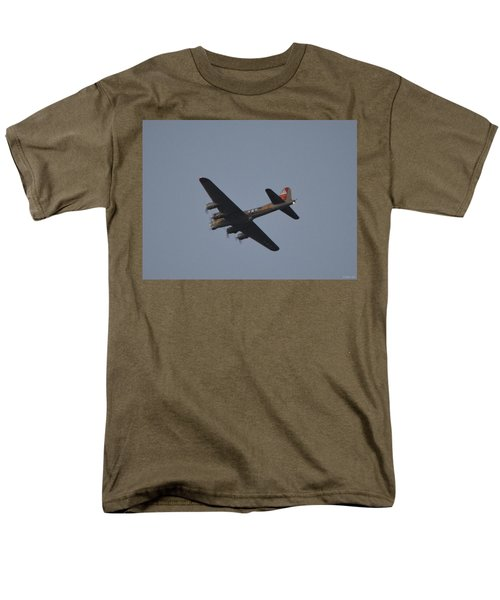 Men's T-Shirt  (Regular Fit) featuring the photograph B-17 Flying Fortress Wwii Bomber Over Santa Rosa Sound At Twilight by Jeff at JSJ Photography