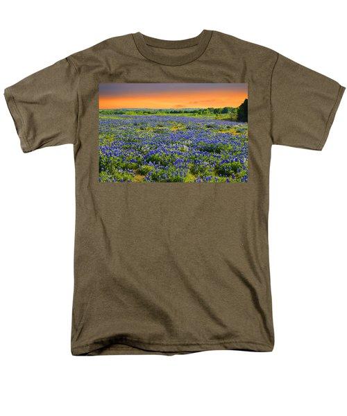 Bluebonnet Sunset  Men's T-Shirt  (Regular Fit) by Lynn Bauer