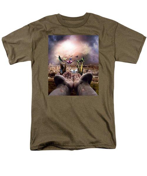 Born Again Israel Men's T-Shirt  (Regular Fit) by Bill Stephens