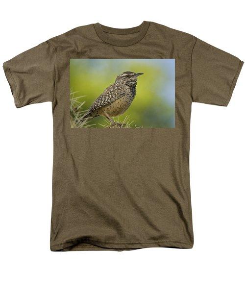 Cactus Wren  Men's T-Shirt  (Regular Fit) by Saija  Lehtonen