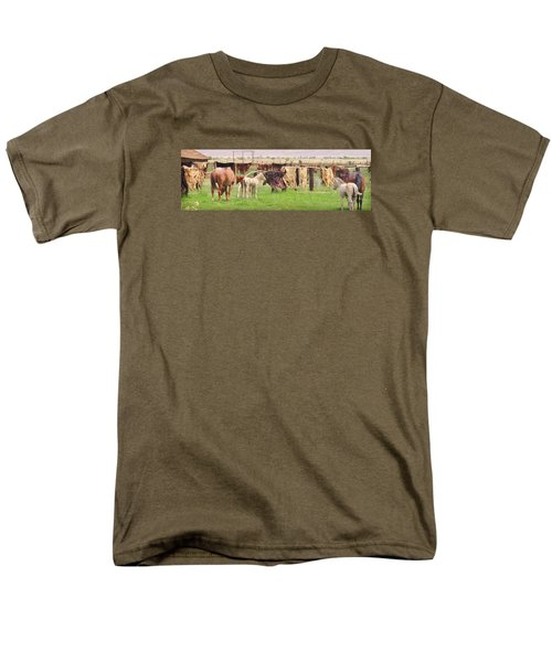 Cow Hides Men's T-Shirt  (Regular Fit) by Marilyn Diaz
