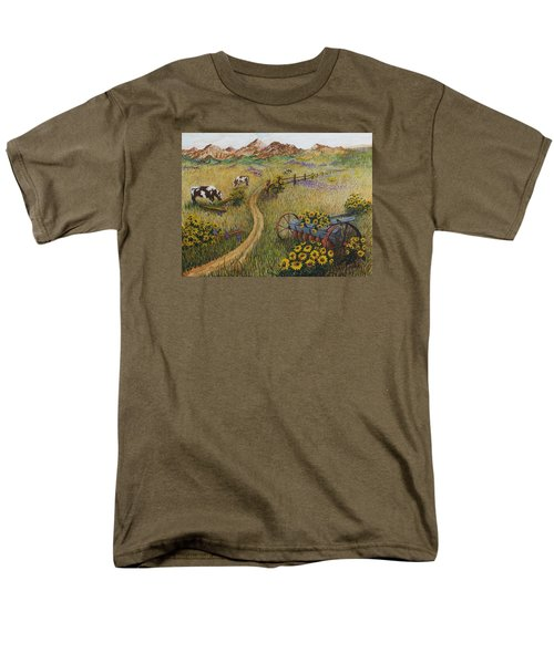 Cows Grazing Men's T-Shirt  (Regular Fit) by Katherine Young-Beck