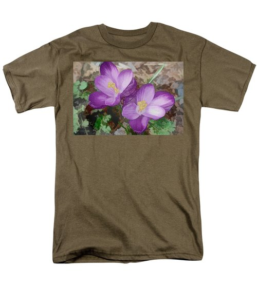 Crocus  Men's T-Shirt  (Regular Fit) by Bonnie Willis