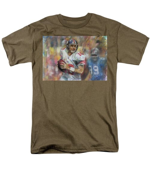 Men's T-Shirt  (Regular Fit) featuring the drawing Eli Manning Nfl Ny Giants by Viola El