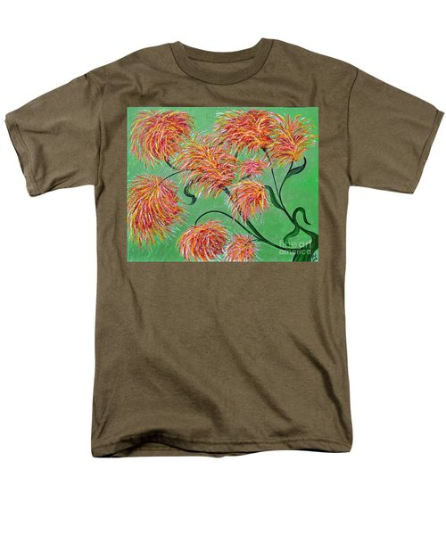 Men's T-Shirt  (Regular Fit) featuring the painting Fireworks by Alys Caviness-Gober