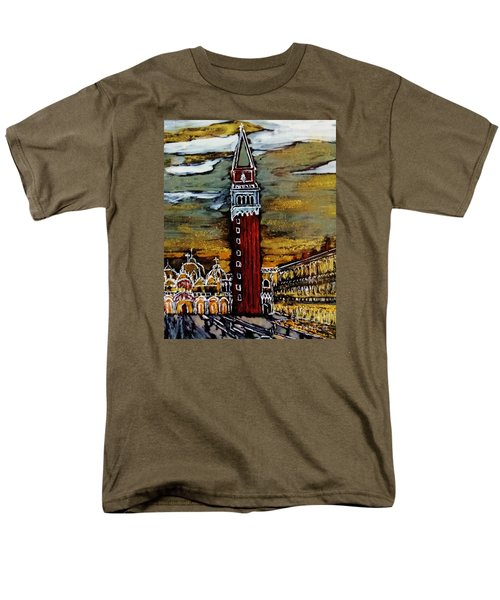 Men's T-Shirt  (Regular Fit) featuring the painting Golden Venice by Jasna Gopic