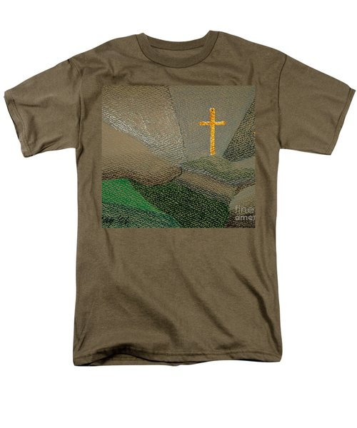 Men's T-Shirt  (Regular Fit) featuring the drawing Depression And The Saviour by Rod Ismay