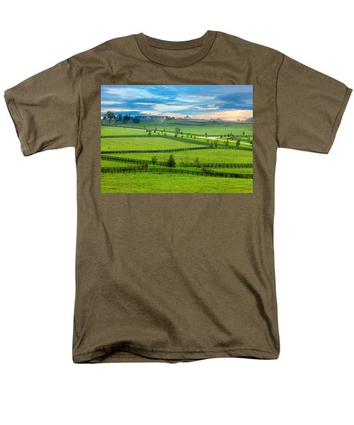 Horse Country Men's T-Shirt  (Regular Fit) by Alexey Stiop