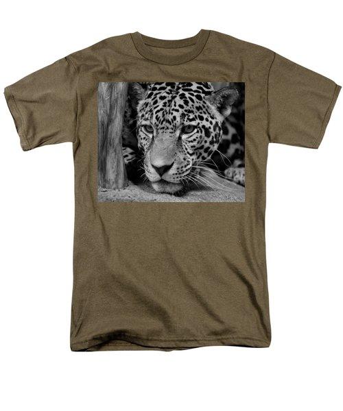 Jaguar In Black And White II Men's T-Shirt  (Regular Fit) by Sandy Keeton