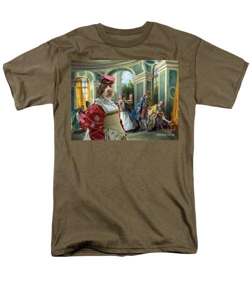 Korthals Pointing Griffon Art Canvas Print  Men's T-Shirt  (Regular Fit) by Sandra Sij