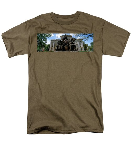 Low Angle View Of Statue Men's T-Shirt  (Regular Fit) by Panoramic Images