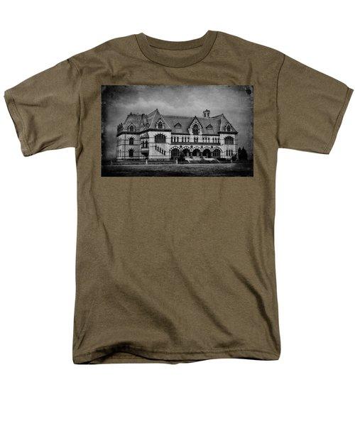 Old Post Office - Customs House B/w Men's T-Shirt  (Regular Fit) by Sandy Keeton