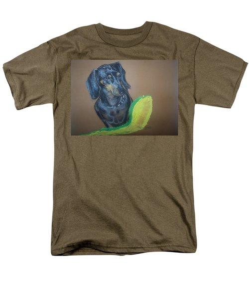 Men's T-Shirt  (Regular Fit) featuring the pastel Ozzie Dashound by Peter Suhocke