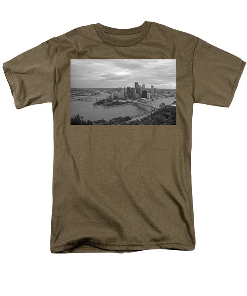 Pittsburgh - View Of The Three Rivers Men's T-Shirt  (Regular Fit)