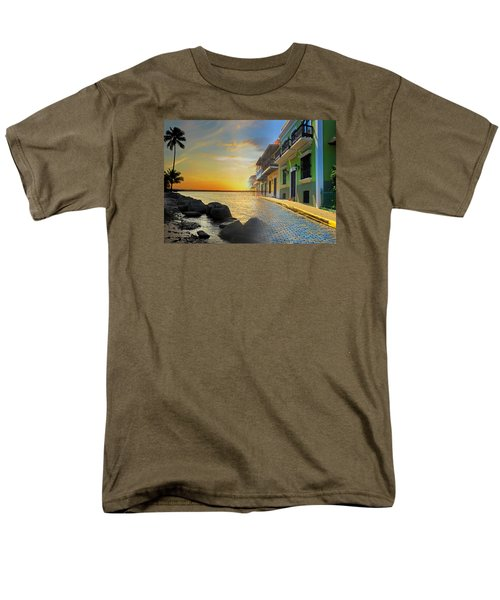 Men's T-Shirt  (Regular Fit) featuring the photograph Puerto Rico Collage 4 by Stephen Anderson