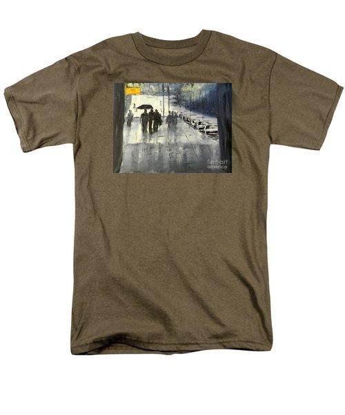 Rainy City Street Men's T-Shirt  (Regular Fit) by Pamela  Meredith