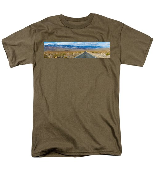 Road Passing Through A Desert, Death Men's T-Shirt  (Regular Fit) by Panoramic Images