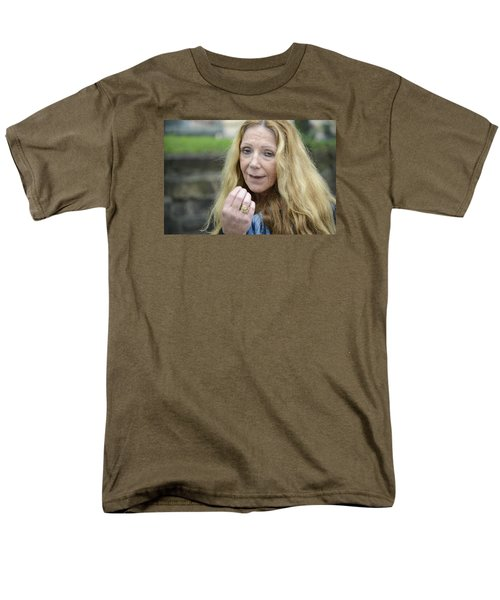 Men's T-Shirt  (Regular Fit) featuring the photograph Street People - A Touch Of Humanity 1 by Teo SITCHET-KANDA