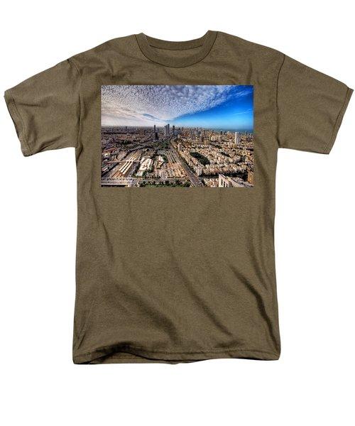 Tel Aviv Skyline Men's T-Shirt  (Regular Fit) by Ron Shoshani