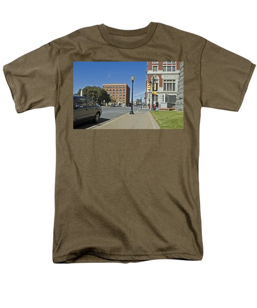 Men's T-Shirt  (Regular Fit) featuring the photograph Texas School Book Depository by Charles Beeler