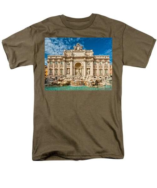 The Trevi Fountain - Rome Men's T-Shirt  (Regular Fit) by Luciano Mortula
