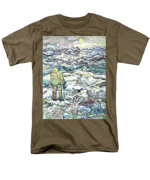 Men's T-Shirt  (Regular Fit) featuring the painting Tranquility by Evelina Popilian