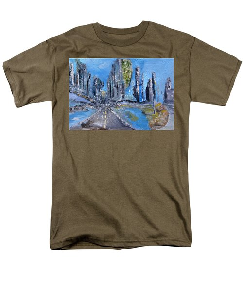 Men's T-Shirt  (Regular Fit) featuring the painting Urban by Evelina Popilian