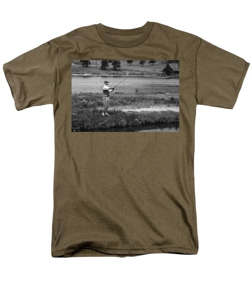 Men's T-Shirt  (Regular Fit) featuring the photograph Vintage Fly Fishing by Ron White