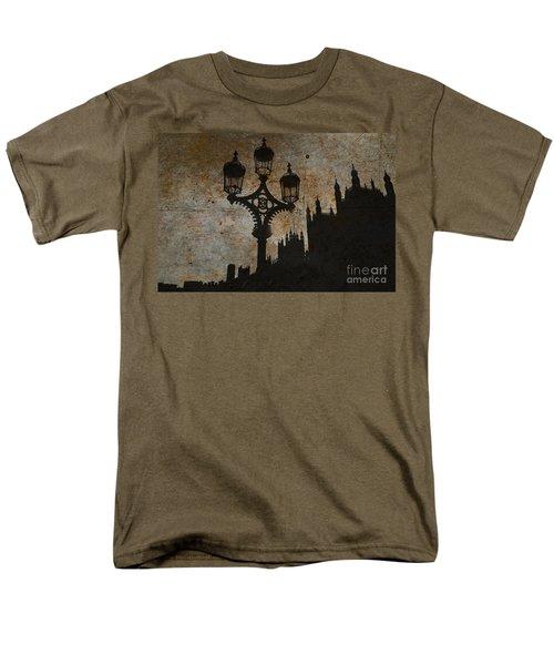 Men's T-Shirt  (Regular Fit) featuring the digital art Westminster Silhouette by Matt Malloy