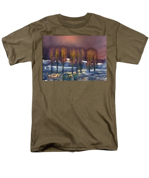 Men's T-Shirt  (Regular Fit) featuring the painting Winter Fantasy by Donald Maier